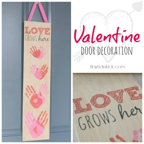 Valentine door decoration
