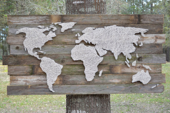 Diy Large Scale String Art World Map