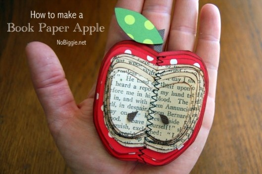 Make an apple out of book paper - NoBiggie.net