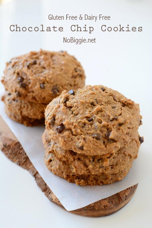 Gluten Free Dairy Free Chocolate Chip Cookies | 25+ Gluten Free and Dairy Free Desserts