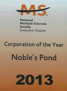 Noble's Pond 2013 Corporation of the Year