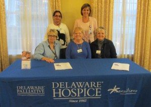 Rosemary, Marilyn & Regina (volunteers)- back row, Purnima (volunteer) & Janet Luke – Asst. Director of Development & Community Outreach