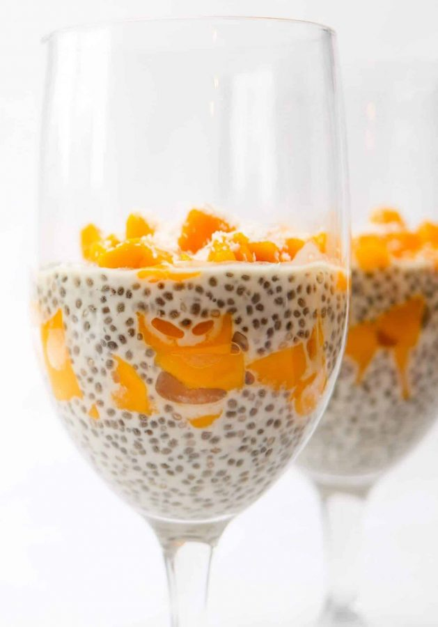 mango and coconut Chia pudding