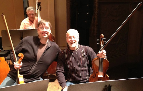 Me with retiring OSO violist Steve Price, with 41 seasons under his belt!