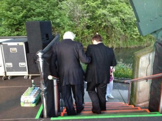 Norman Leyden and Charles Noble in Eugene, Oregon, July 1, 2012.