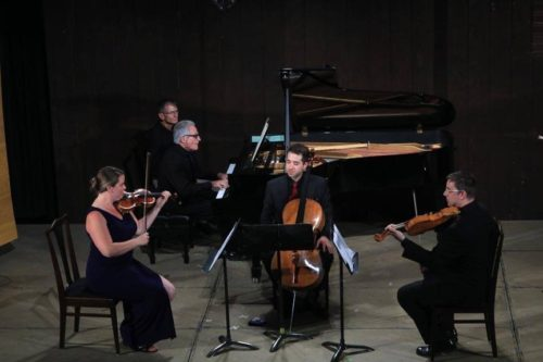 Brittany Boulding Breeden, Craig Sheppart, Matthew Zalkind, and Charles Noble play Schubert.