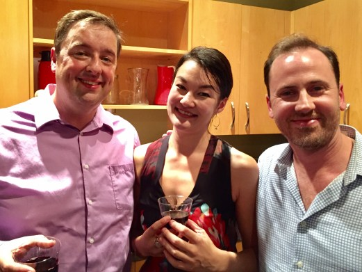 Such good friends - happy after the performance! L-R: Charles Noble, Shirley Hunt, Adam Lamotte
