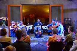 """Performing Kenji Bunch's """"String Circle""""."""