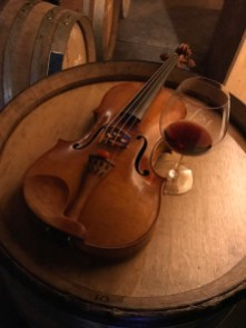 Viola and wine, not too shabby!