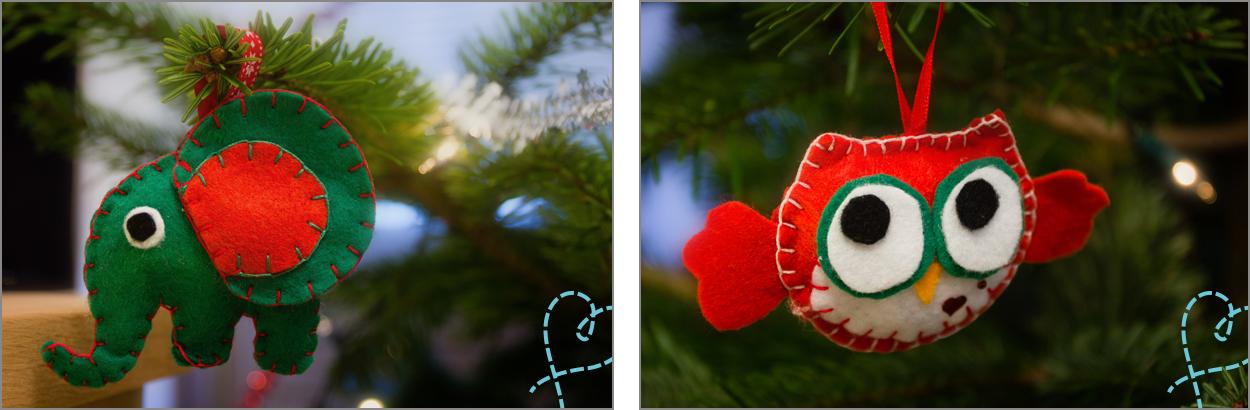 olifant uil kerstboom