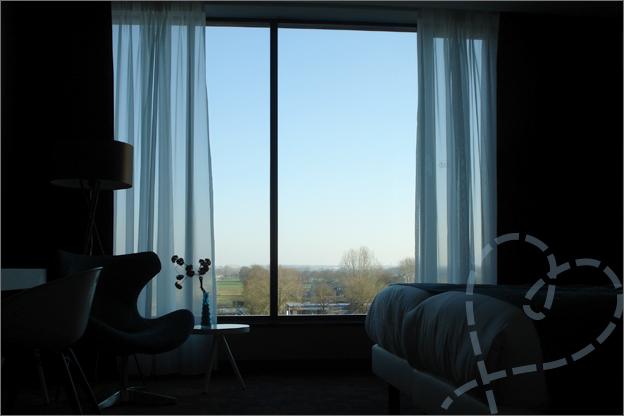uitzicht hotel kamer