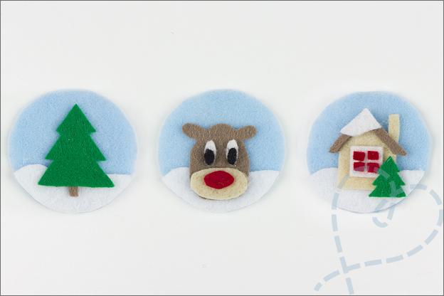 kerstballen van vilt knutselen