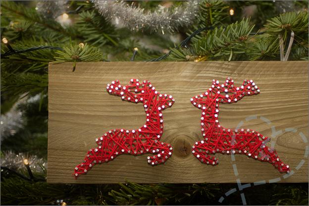 sting art kerst DIY