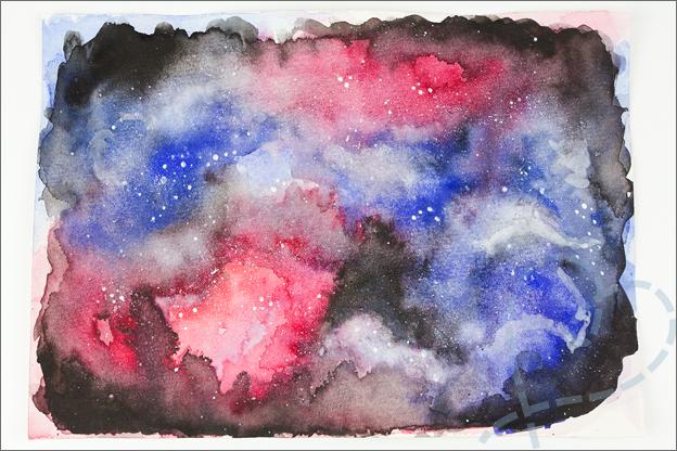 aquarel galaxy