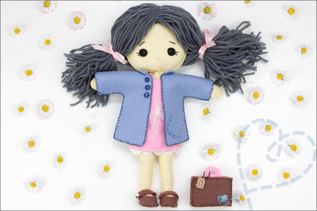 Voorbeeld pop van vilt my felt doll