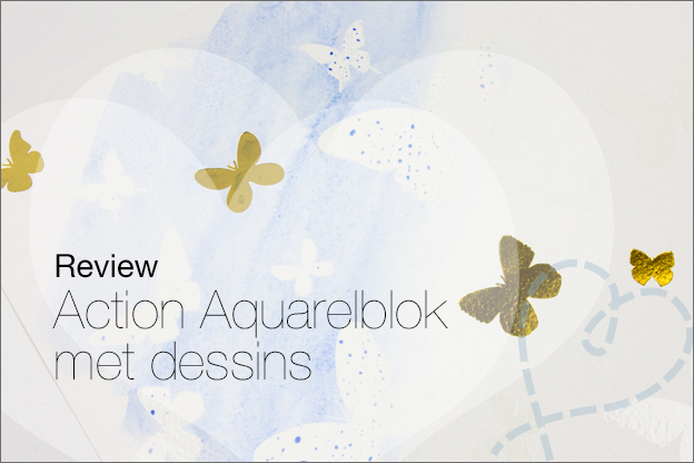 Action review aquarelblok met dessins