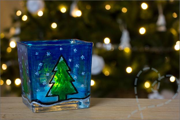 last minute kerstcadeau eindresultaat glasverf action