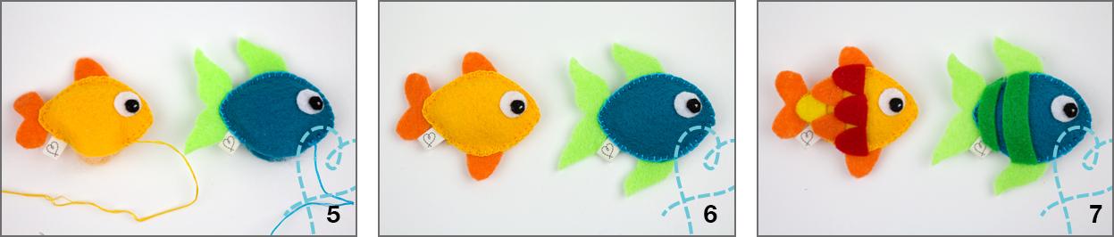 vis van vilt knutselen met gratis patroon