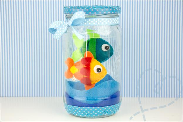 visjes van vilt aquarium Vissenkom tutorial knutselen