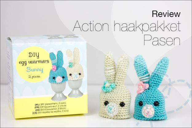 Review action haakpakket Pasen konijn eiwarmer