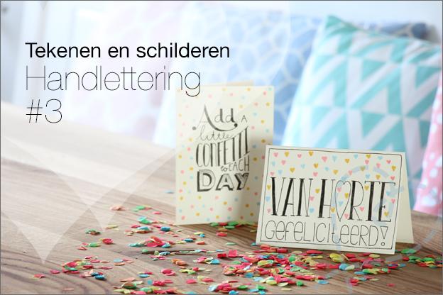 DIY Handletteren eigen wenskaarten