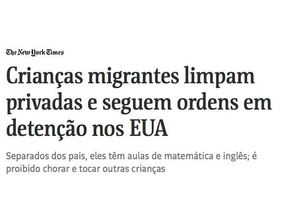 Crianças brasileiras enjauladas nos EUA? Isso não vem ao caso.