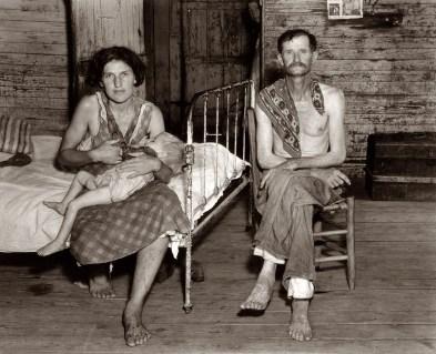 © Walker-Evans. American Depression Era Couple.