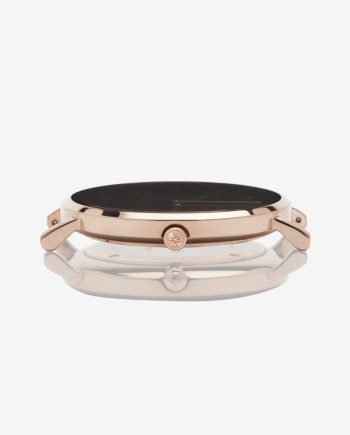 Rose Gold Black – Brown Leather (With A Complimentary Pair of Watch Straps)