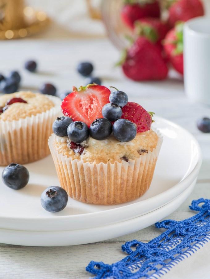 Macaroon Berry Muffins