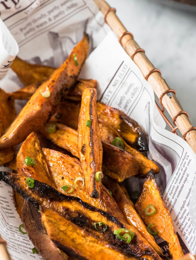 Healthy Oven Roasted Sweet Potato Wedges