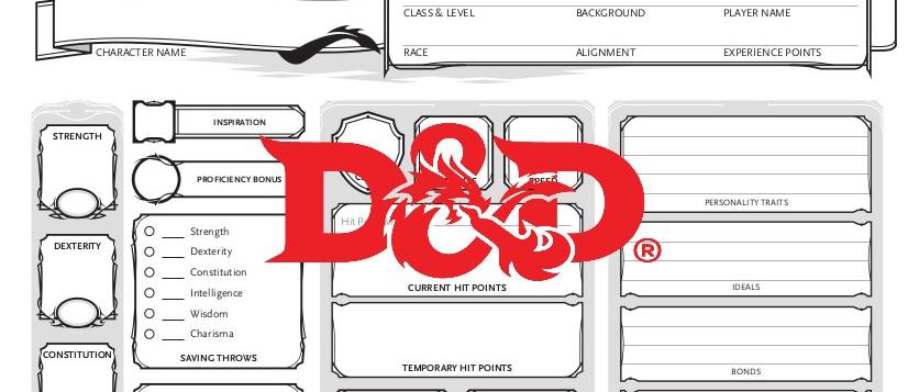 D&D5e scheda del personaggio logo