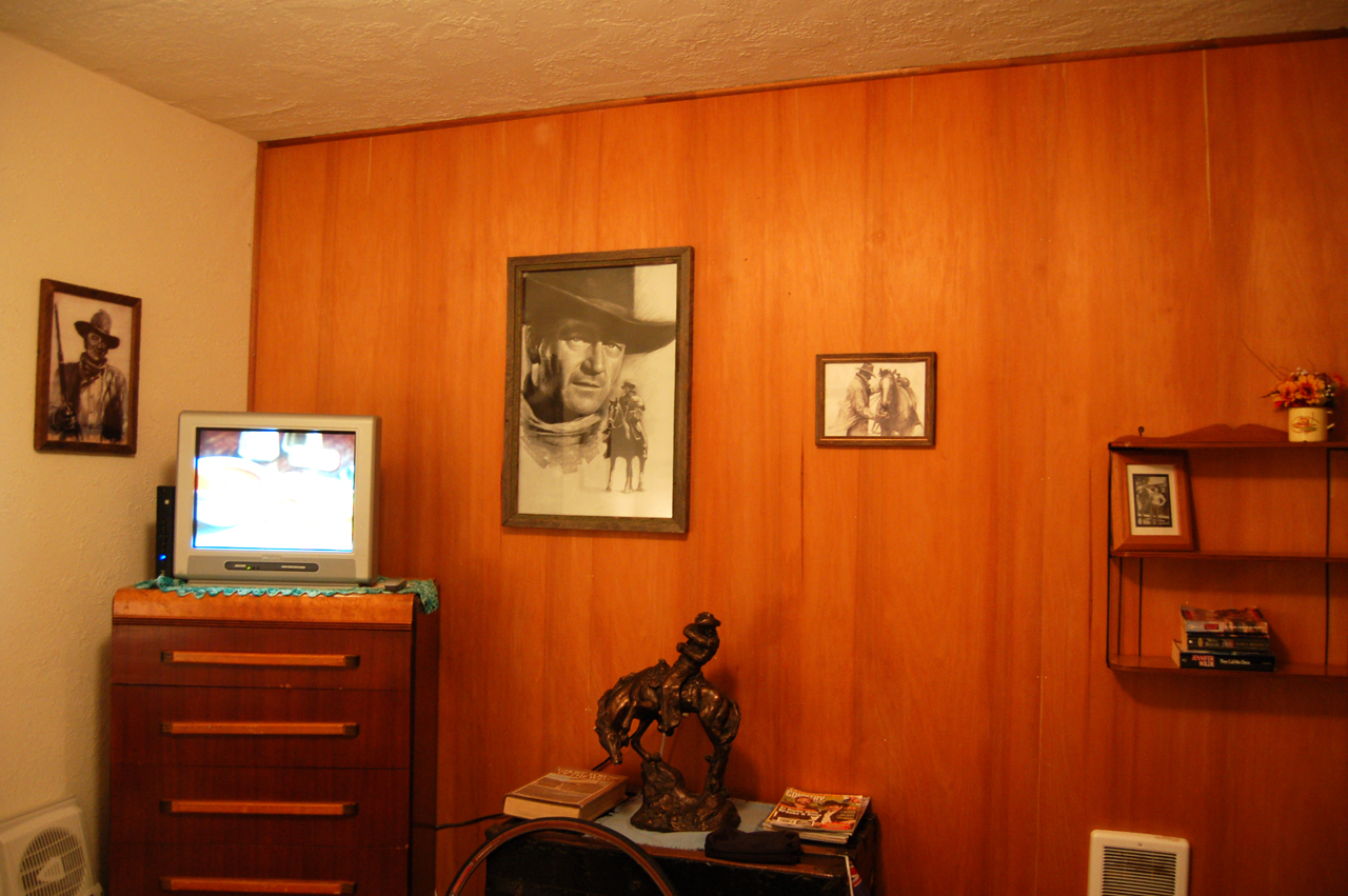 I got the John Wayne room! (This is only a small sample of its glory)