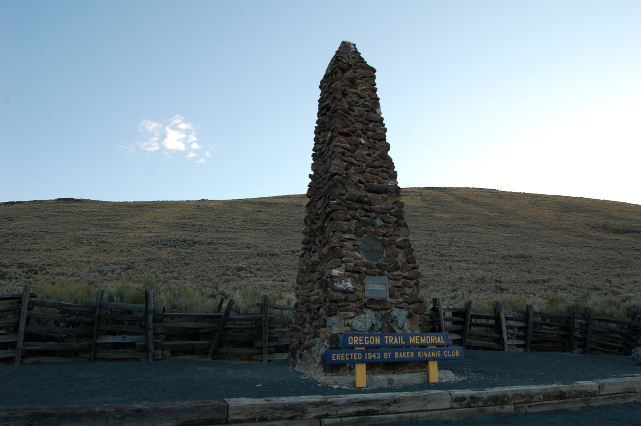 Oregon Trail Monuments and Interpretive Centers abound