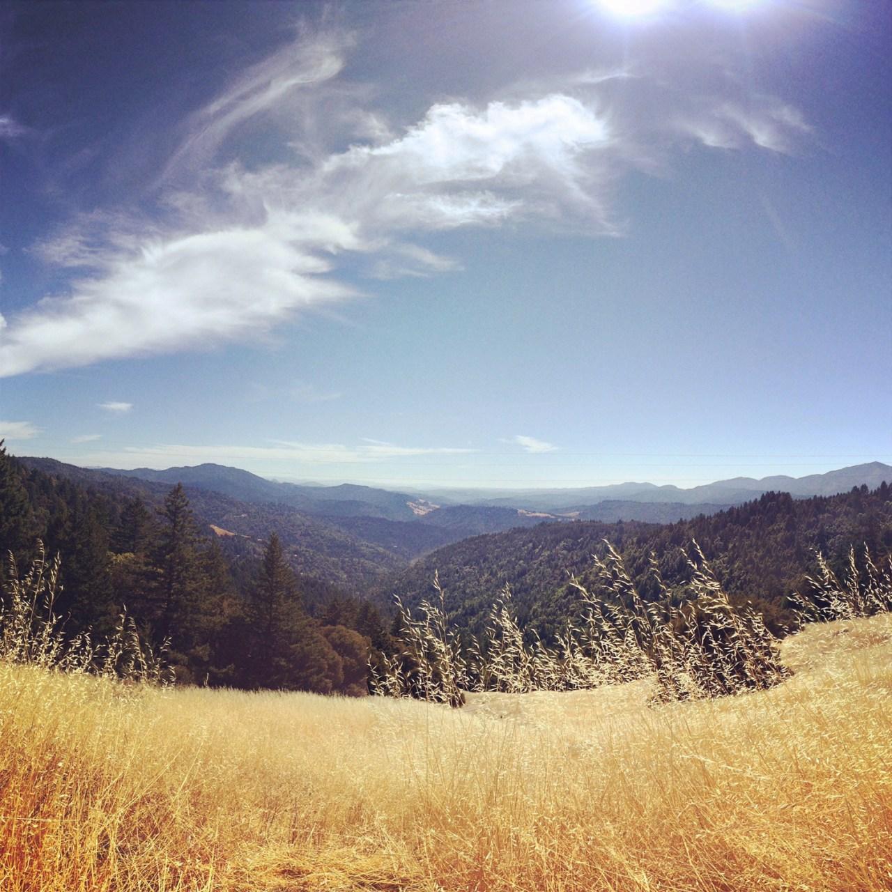 Riding along the ridge after Panther Gap