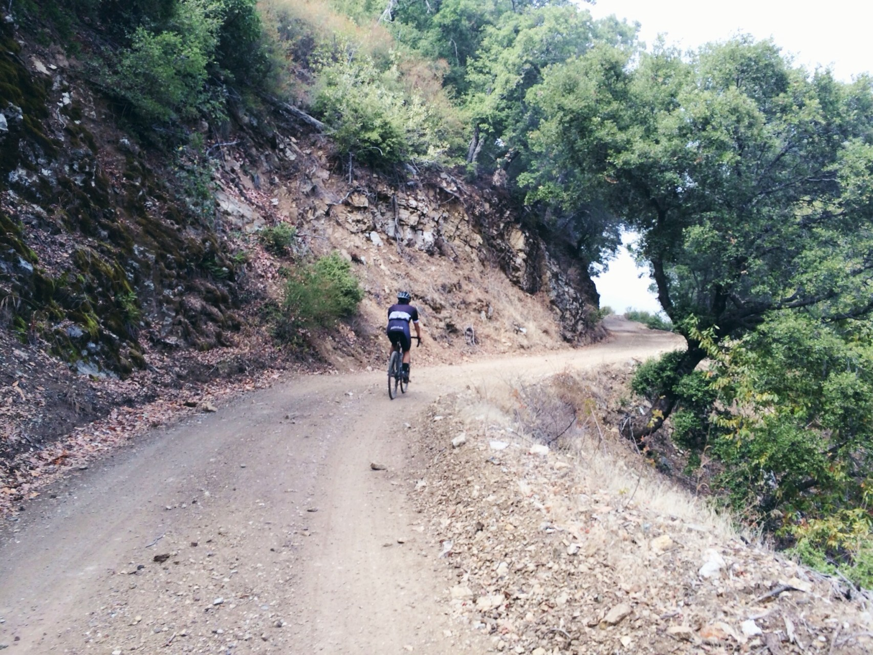 Probably the roughest section of climbing. Loose gravel and very uneven around the corner here.