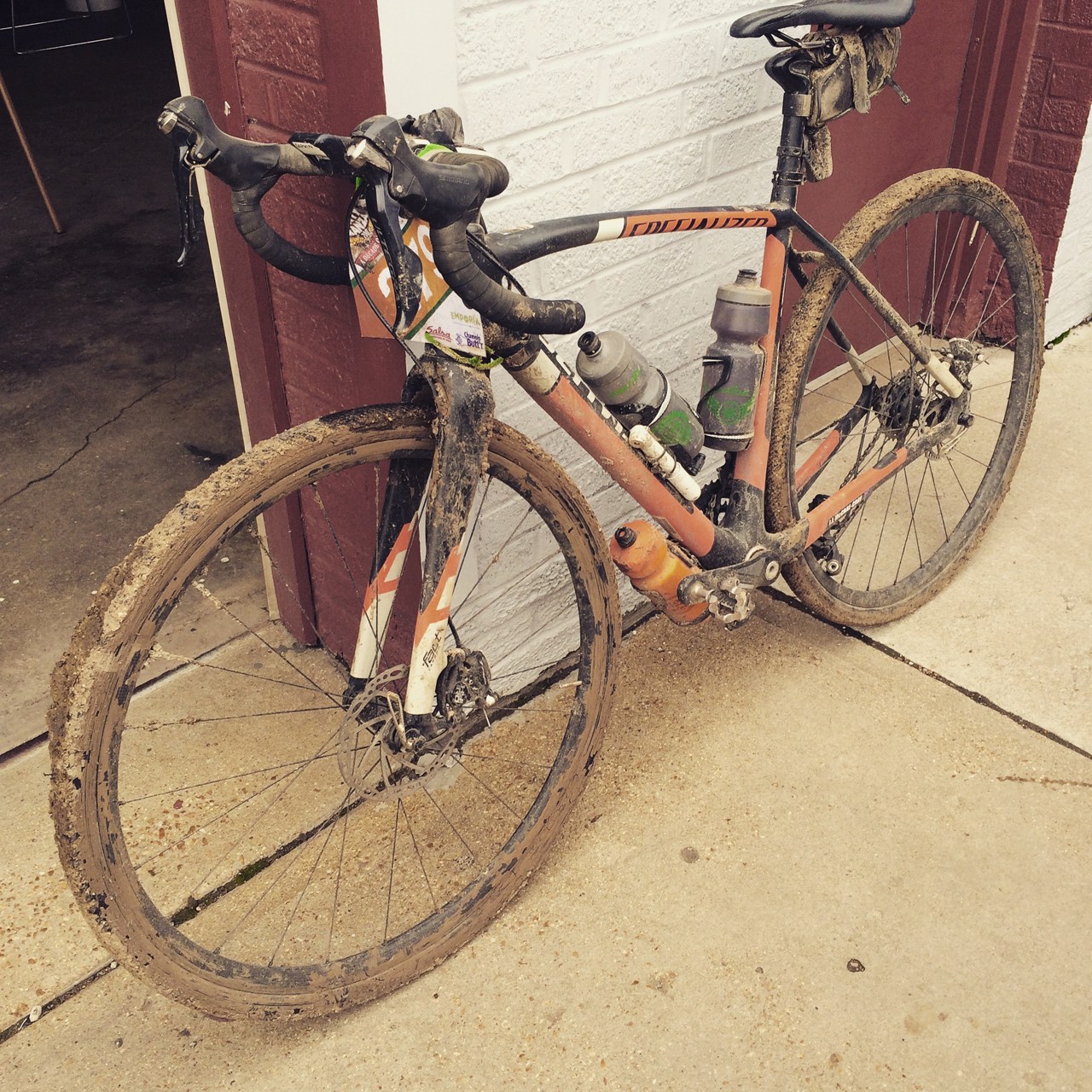 Pumpkin Butter. Even with a broken derailleur, nothing can diminish my love for this bike. I spent a while pulling the money trigger on this bike. I love it so much. (Yes, I work for Specialized. But I still have to weigh purchases with my bank account)