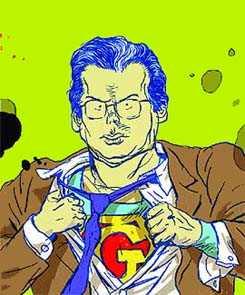 Caricatura del juez Baltasar Garzón en funciones de Supergarzón (publicada en el diario El Mundo)