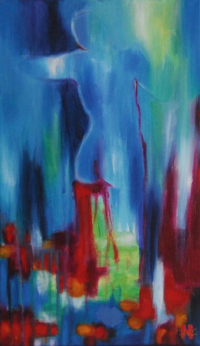 Noel Gazzano (2012) Body of Light. Acrylic o canvas, 50x30 cm