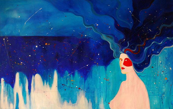 Noel Gazzano (2014) La Tempesta (The Tempest). Acrylic on canvas, 120x190 cm