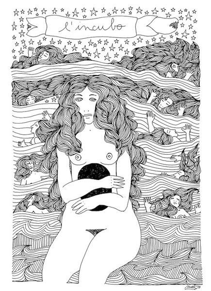Noel Gazzano (2014) L'Incubo (2014). China su carta, 35x25 cm