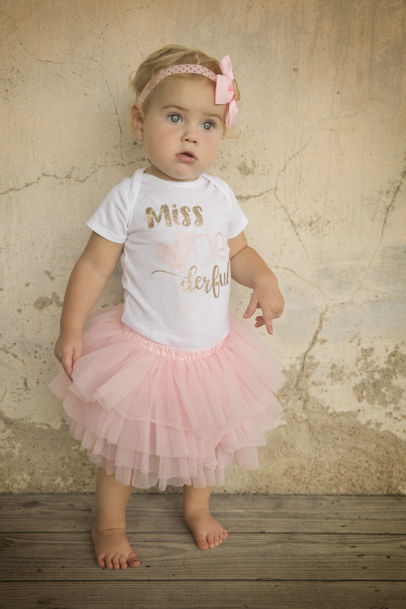 Miss Onederful First Birthday Outfit For Baby Girl With Pink