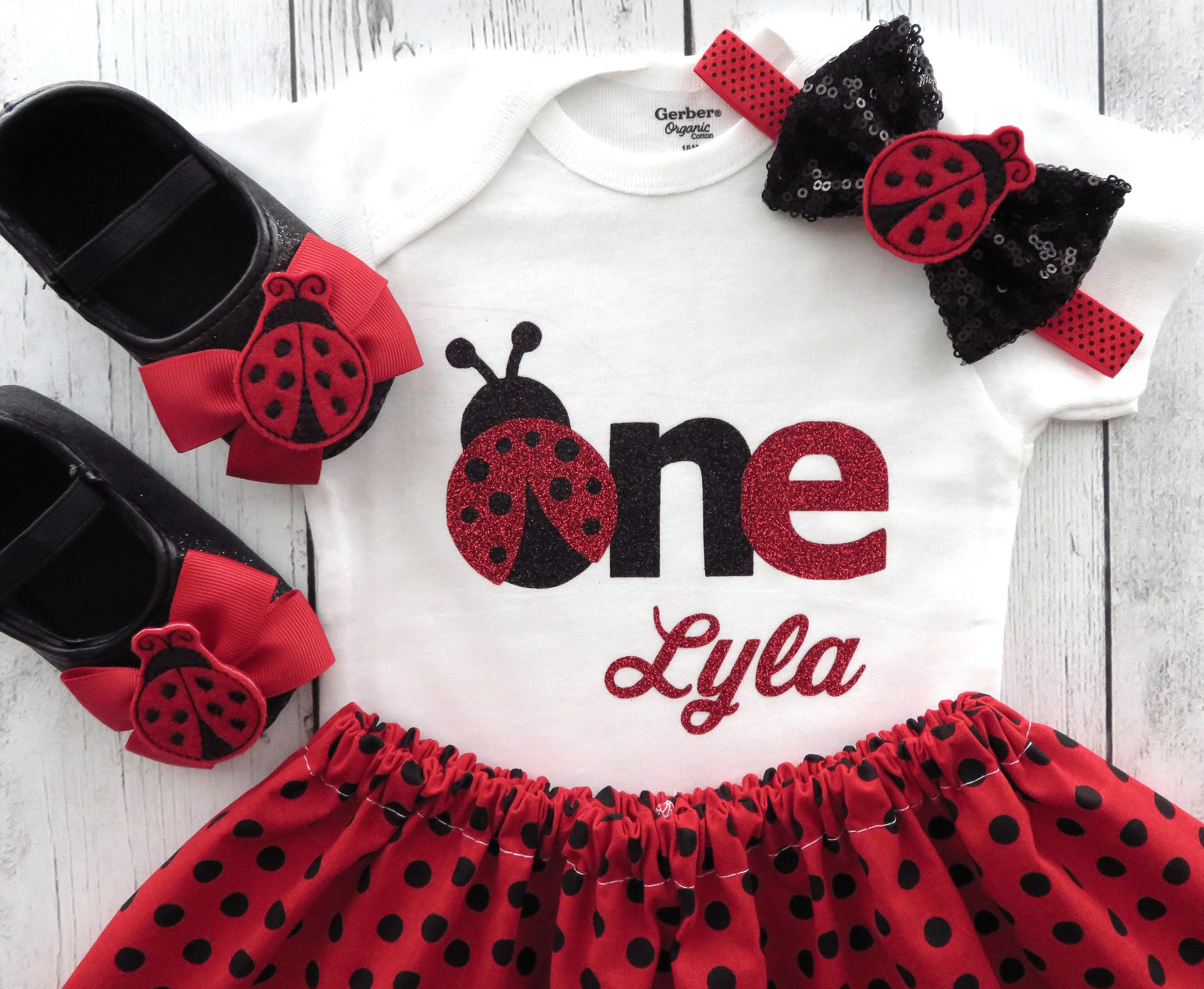 Ladybug First Birthday Outfit Girl 1st Birthday Outfit Re