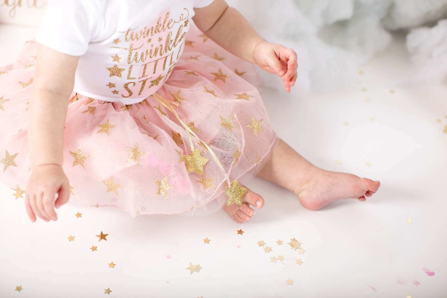 Twinkle Twinkle Little Star First Birthday Outfit With Pink