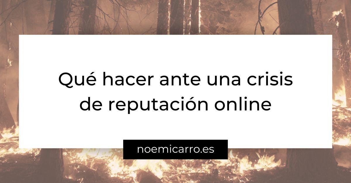 Crisis de reputacion online