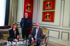 Brad Bird, Nicole Grindle y John Walker.
