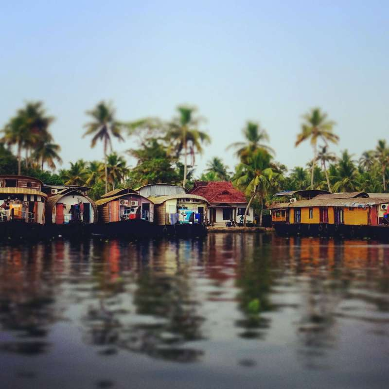 Houseboats Kerala places to visit in India