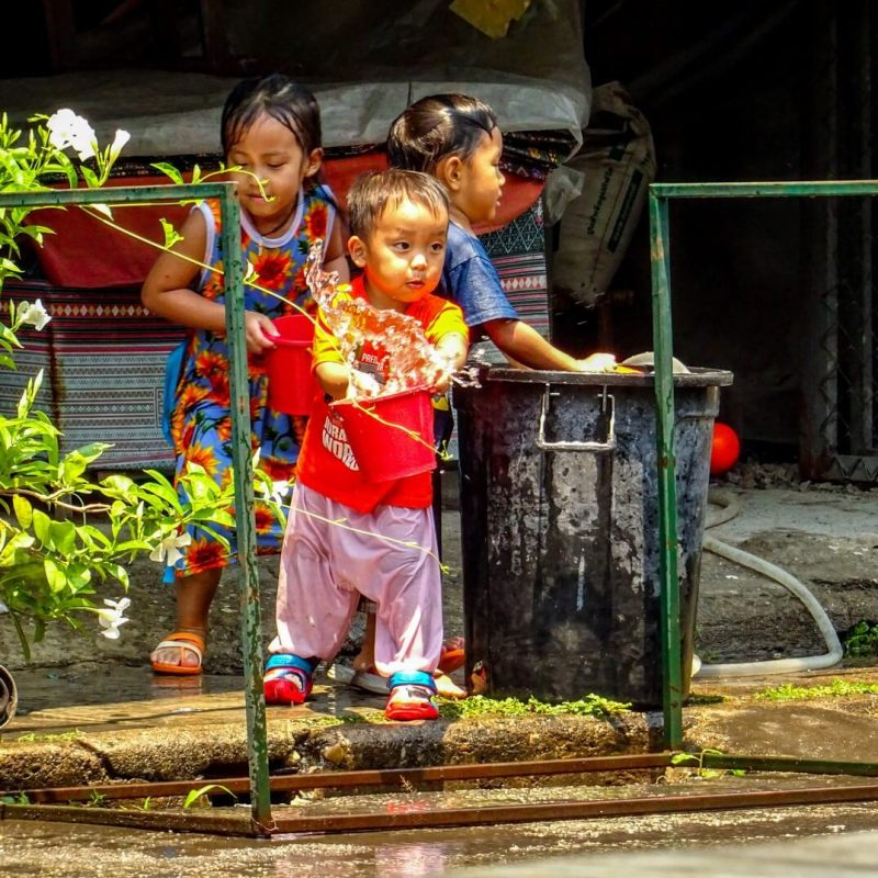 Small boy Songkran 2018 Things to do in North Thailand