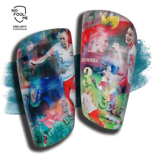 Piłkarskie ochraniacze Personalizowane z własnym zdjęciem NOFOUL.ME- PL - indywidualny projekt Gabriela Grzywińska