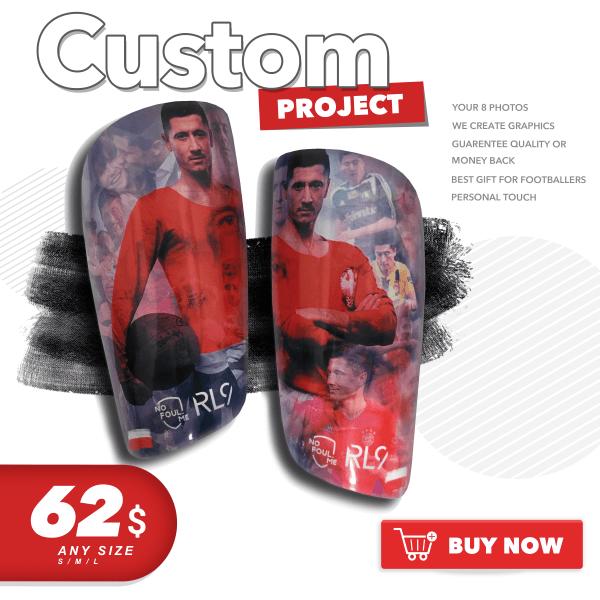 Football SOCCER custom shin guards shin pads with your photos NOfoul.me
