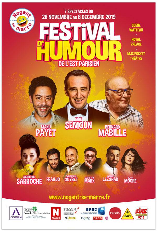 Festival d'humour Nogent se Marre - Affiche 2019 ©Supernova